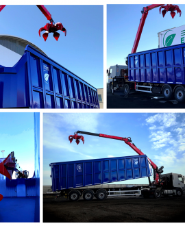 trailer with crane