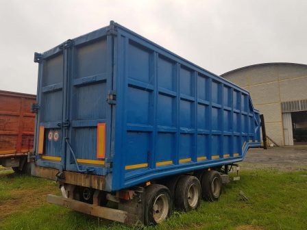 trailer for metal recycling